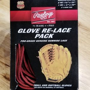 Maroon Relace Pack for Baseball or Softball Glove
